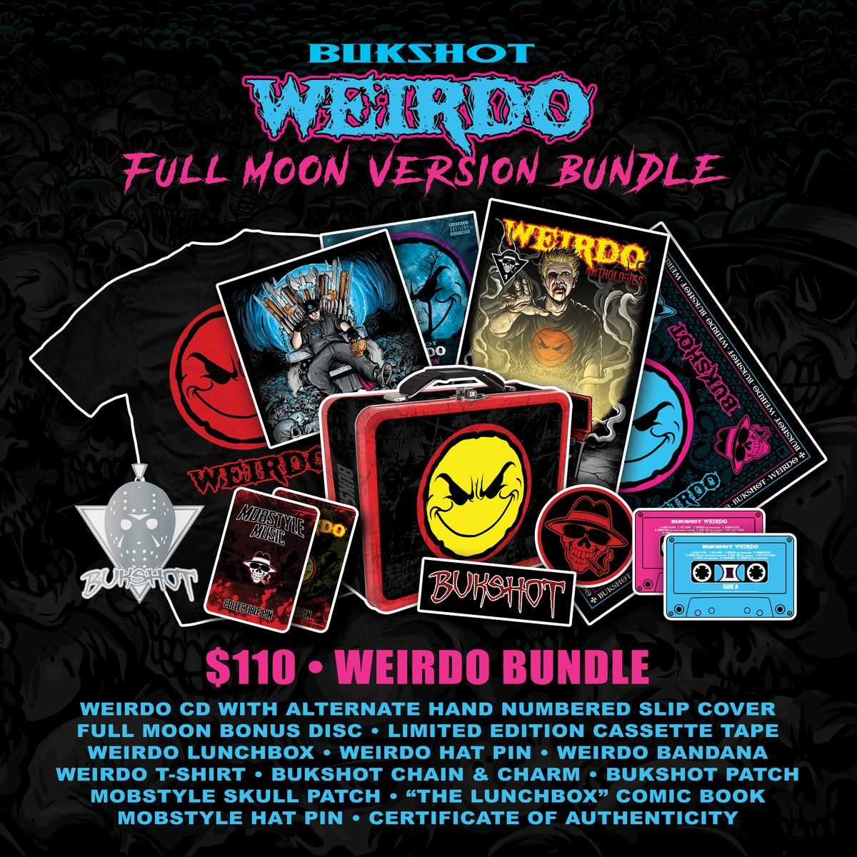 "Bukshot ""Weirdo"" CD (Full Moon Version Pre-Order) [Limited To 150]"