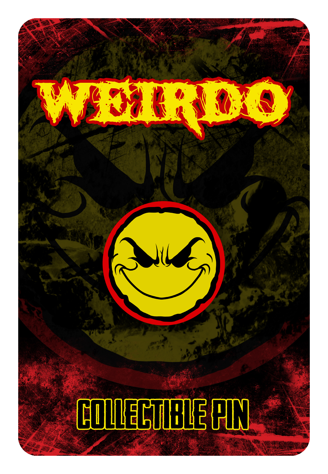 Weirdo Yellow/Red Hat Pin