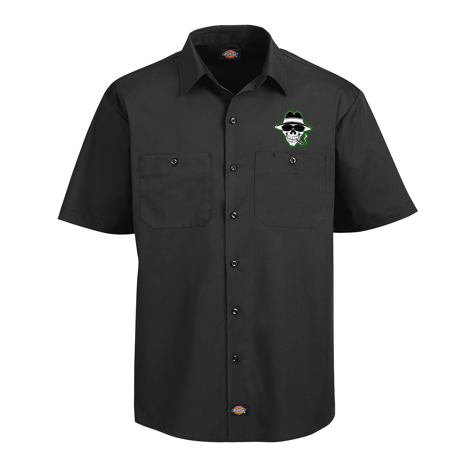 Bukshot Work Shirt Front (Green)