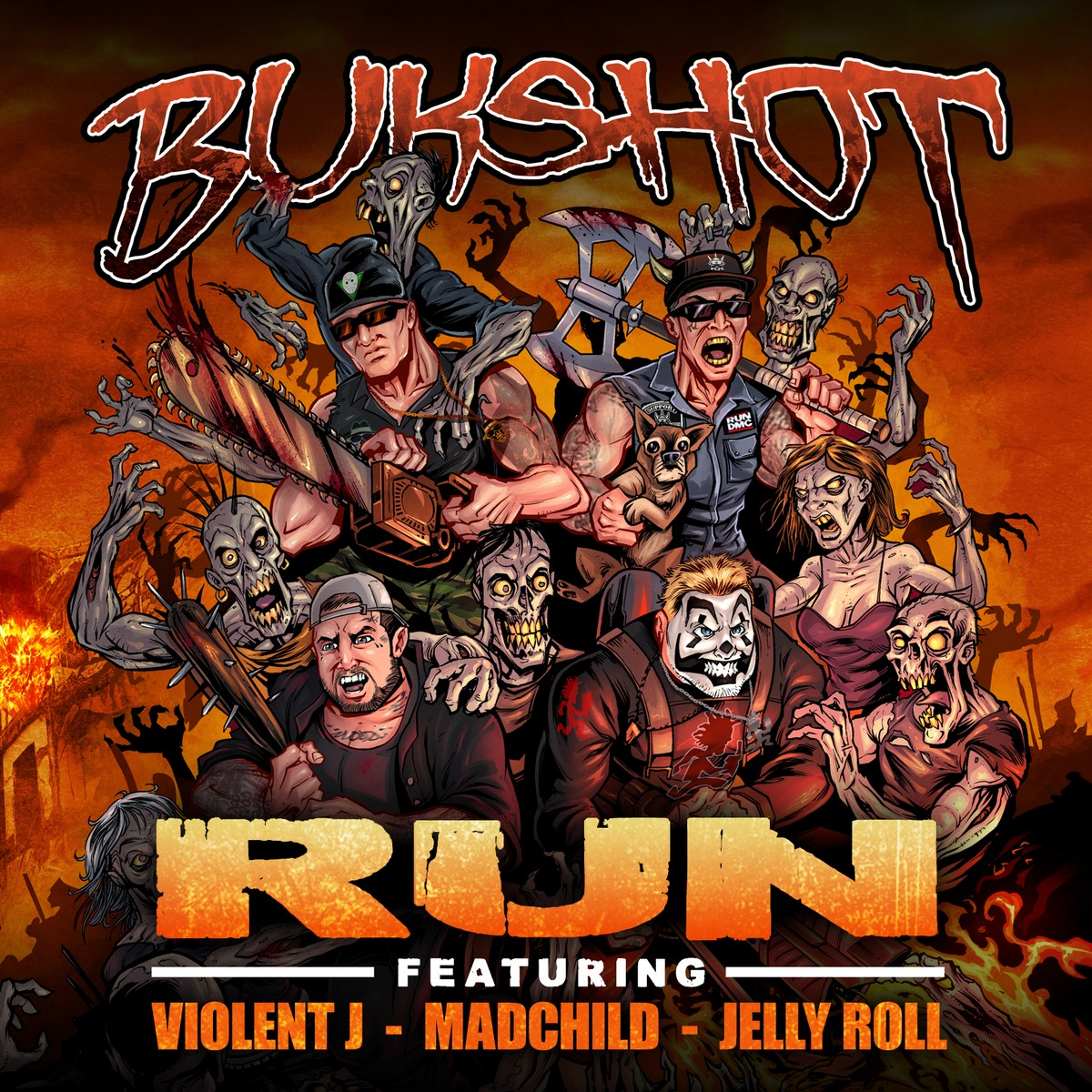 "Bukshot ""Run"" CD Feat. Jelly Roll, Violent J, & Madchild"