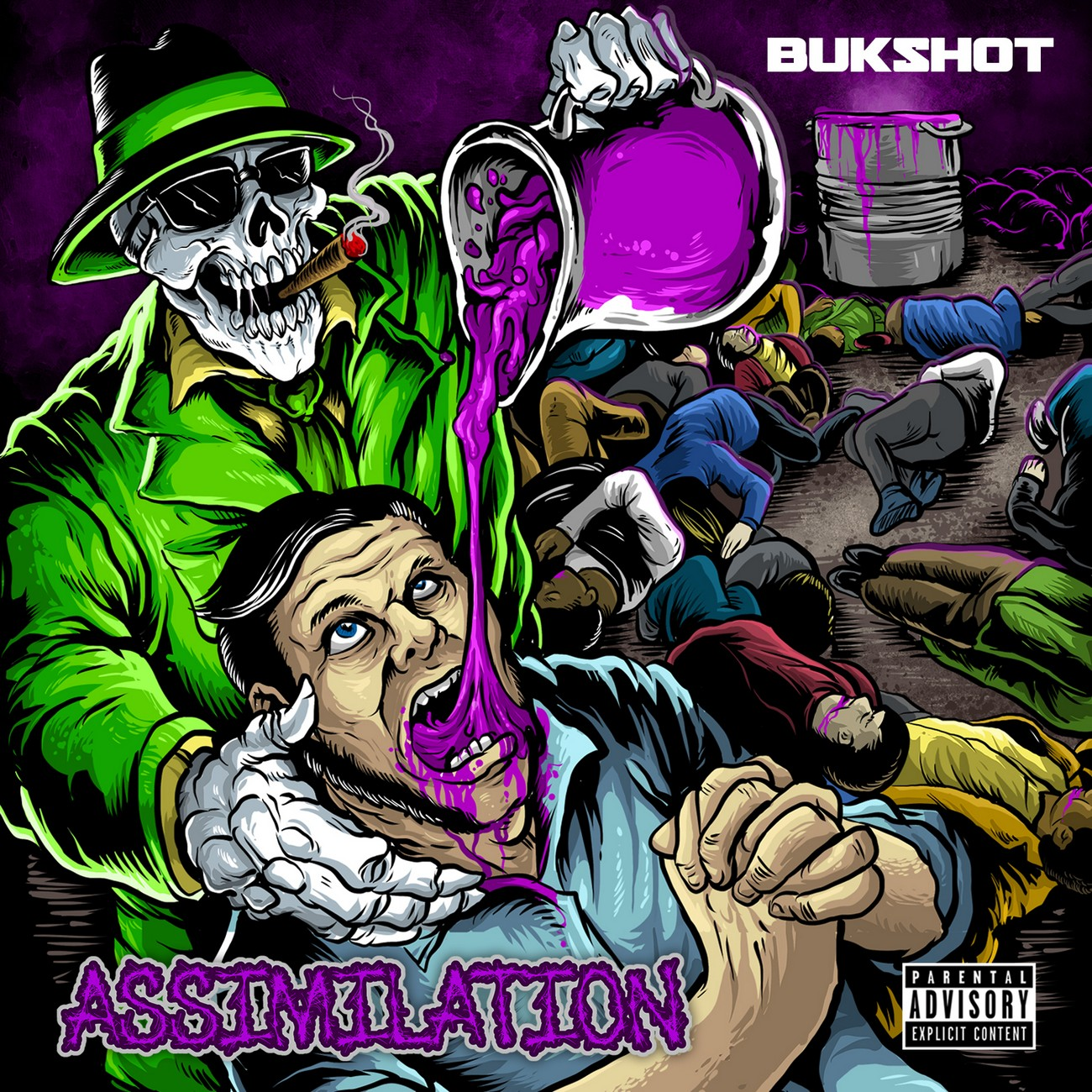 "Bukshot ""Assimilation"" CD W/Green Kool-Aid Packet"