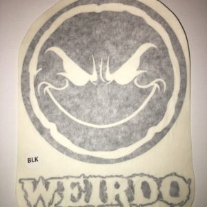 Weirdo 5″ Vinyl Window Decal (9 Different Colors)