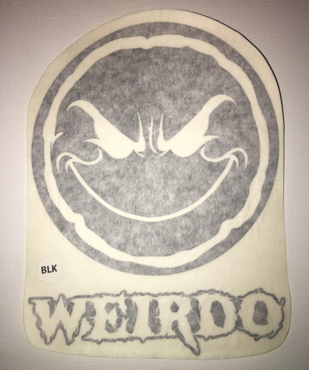 Weirdo 5″ Vinyl Window Decal (9 Different Colors)