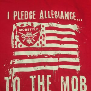 "Old School ""I Pledge Allegiance"" T-shirt (Red)"