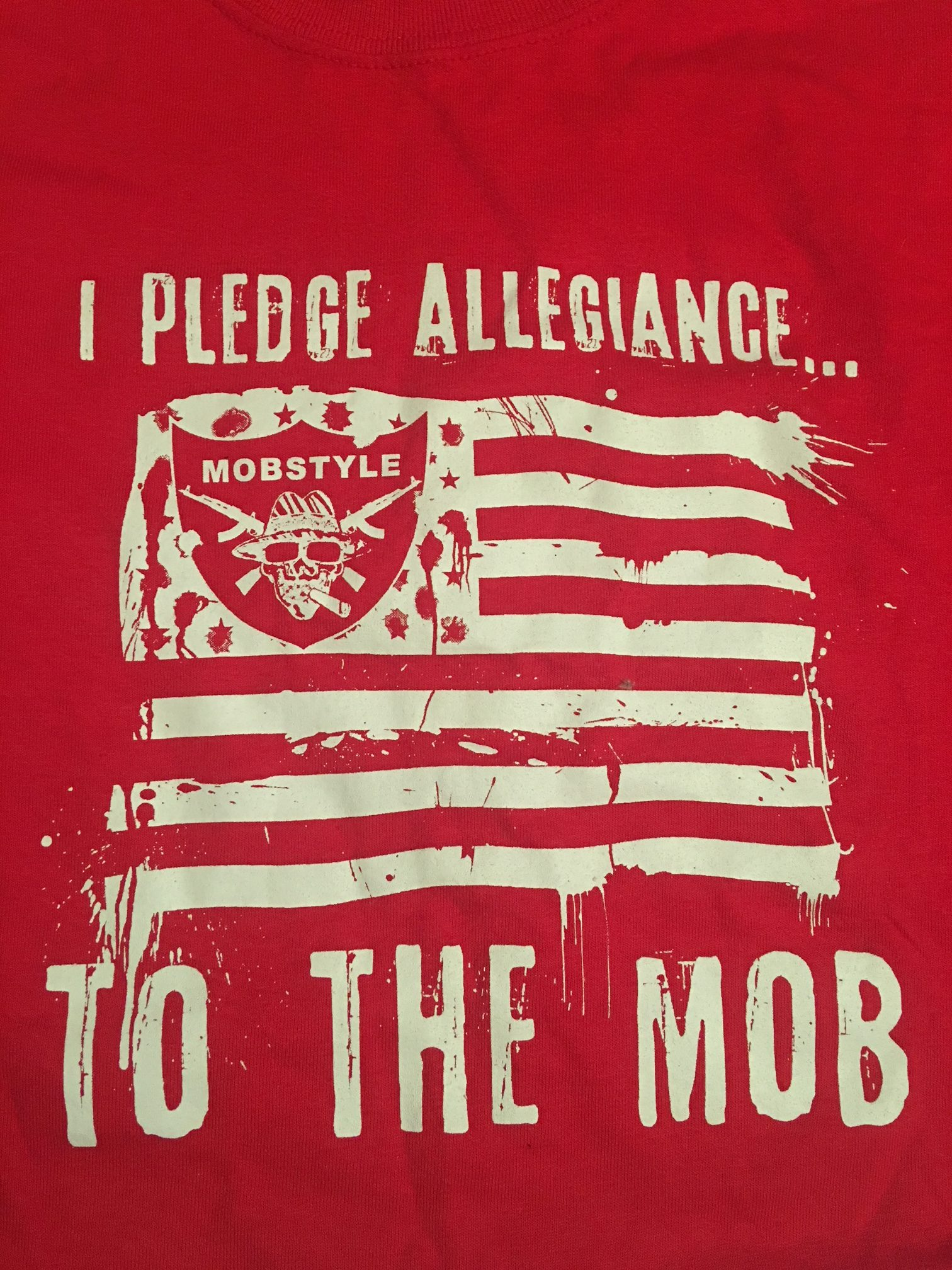 "Old School ""I Pledge Allegiance"" T-shirt (Red)"