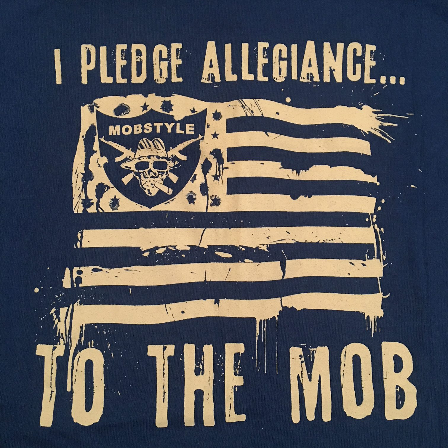 "Old School ""I Pledge Allegiance"" T-shirt (Blue)"